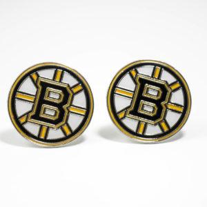 Boston Bruins Cufflinks Wedding K Featured