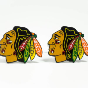 Chicago Blackhawks Cufflinks Wedding K Featured