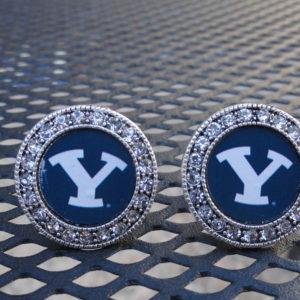 BYU Circular Diamond Cufflinks