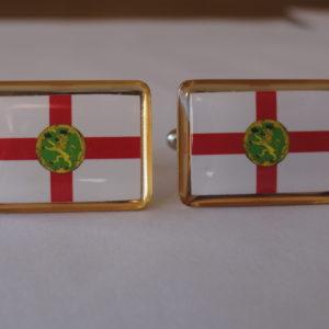 Alderney Flag Cufflinks Featured