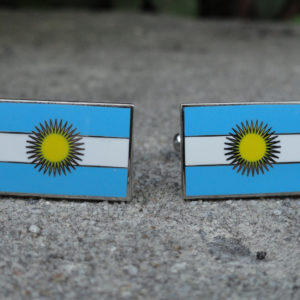 Argentina Flag Cufflink Featured