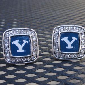 BYU Square Diamond Cufflinks