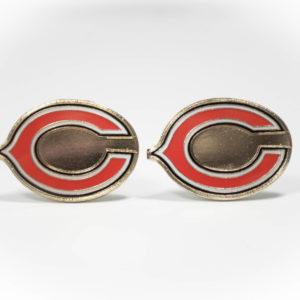 Chicago Bears C Cufflinks Wedding K Featured
