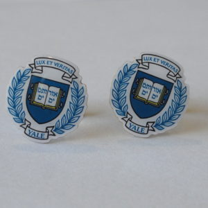 Yale Seal Cufflinks Featured