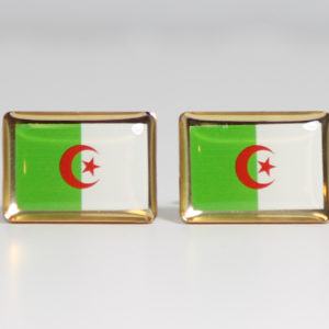 Algeria Flag Cufflinks Featured Wedding L