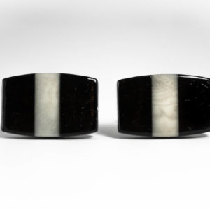 Ebony and Ivory Cufflinks Wedding K Featured