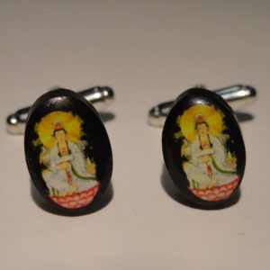 2 Buddha Cufflinks Wedding Featured