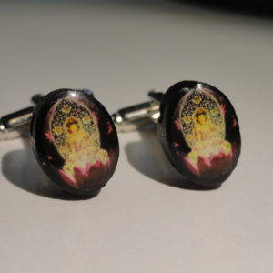 4 Buddha Cufflinks Wedding Featured