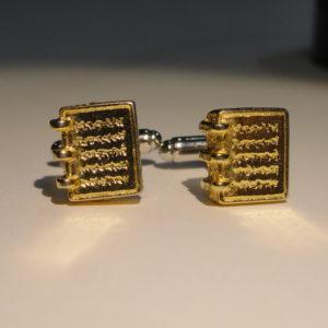 Golden Plates Cufflinks Wedding Featured
