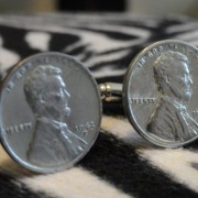 1943 Steel Penny coin Cufflinks Wedding K Featured