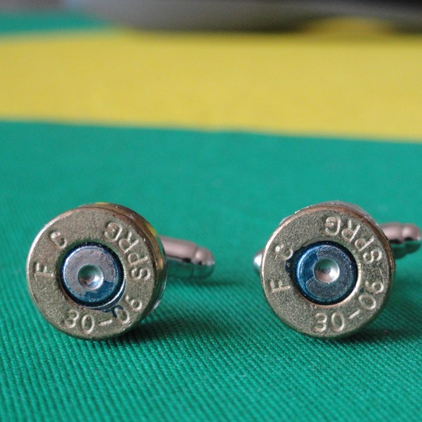 .30-06 Springfield Caliber Cufflinks Wedding K Featured