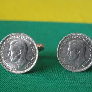 Australian Silver Threepence Coin Cufflinks Wedding K Featured
