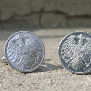 Austrian 2 Groschen Coin Cufflinks Wedding K Featured