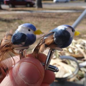 Blue Bird Cufflinks Wedding K Featured