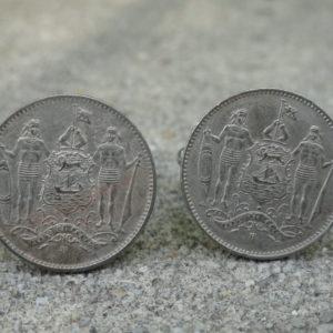 British North Borneo Coin Cufflinks Wedding K Featured