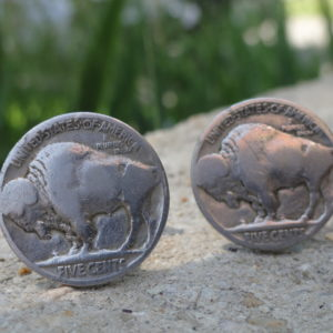 Buffalo Nickel Coin Cufflinks Wedding K Featured