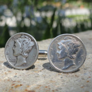Mercury Dime Cufflinks Wedding K Featured