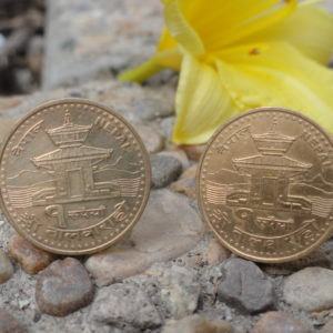 Nepali Coin Cufflinks Wedding K Featured Stupa