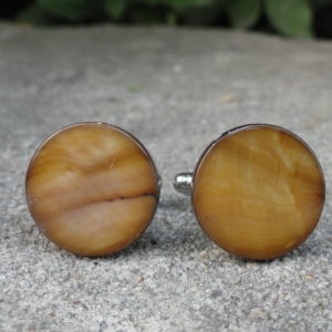 Polished Wood Cufflinks Wedding K Featured