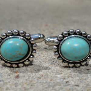 Turquoise Bead Cufflinks Wedding K Featured