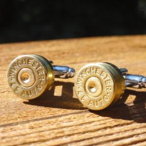 Winchester .45 Caliber Brass Cufflinks Wedding K Featured