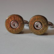.44 Magnum Caliber Ammo Cuff Links Wedding K