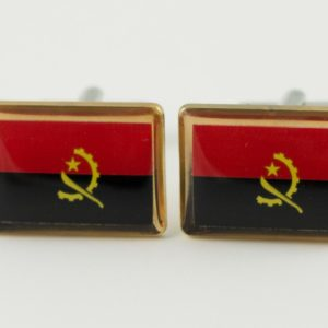 Angola Flag Cufflinks Wedding K Featured