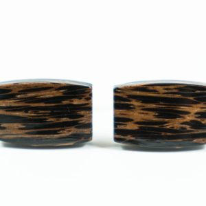 Black Palm Wood Cufflinks Wedding Featured S