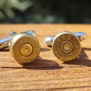 Brass 9x19mm Ammo Cufflinks Wedding K Featured