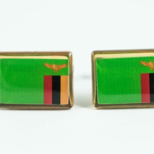 Zambian Flag Cufflinks Wedding Featured S