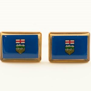 Alberta Albertan Canada Canadian Flag Cufflinks Wedding Featured S