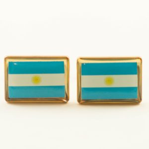 Argentina Argentine Argentinian Flag Cufflinks Wedding Featured S