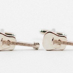 Acoustic Guitar Musical Instrument Cufflinks Wedding S Featured