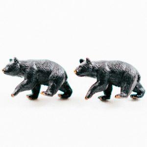 Black Bear Cufflinks Wedding S Featured