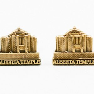 Cardston Alberta LDS Mormon Cufflinks Wedding S Featured