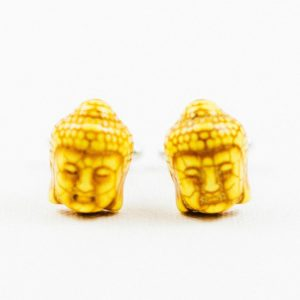 Yellow Buddha Head Cufflinks Wedding S Featured