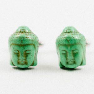 Green Buddha Head Buddhism Cufflinks Wedding S Featured