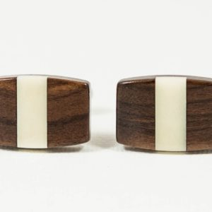 Bolivian Rosewood and Tagua Nut Ivory Wood Wooden Exotic Hardwood Cufflinks Wedding S Featured