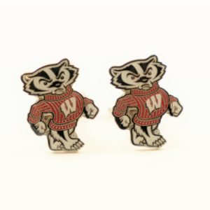 University of Wisconsin Bucky Badger Cufflinks Wedding Featured S
