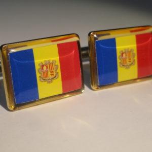 Andorran Flag Cufflinks Featured