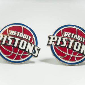 Detroit Pistons Cufflinks Wedding K Featured