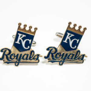 Kansas City Royals Cufflinks Wedding K Featured