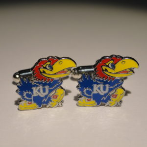 University of Kansas Jayhawks Cufflinks Featured