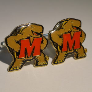 University of Maryland Terrapins Cufflinks Featured