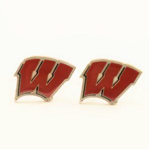 University of Wisconsin Motion W Cufflinks Wedding Featured S