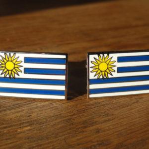 Uruguay Flag Cufflinks Featured
