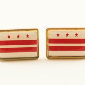 Washington DC Flag Cufflinks Wedding Featured S