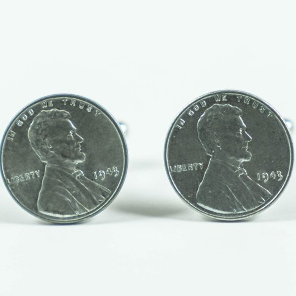 1943 Steel Penny Coin Cufflinks Wedding Featured S Pennies