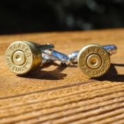 9mm Blazer Luger Gold Brass Cuff Links Wedding K