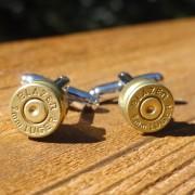 9mm Blazer Luger Gold Brass Cufflinks Wedding K